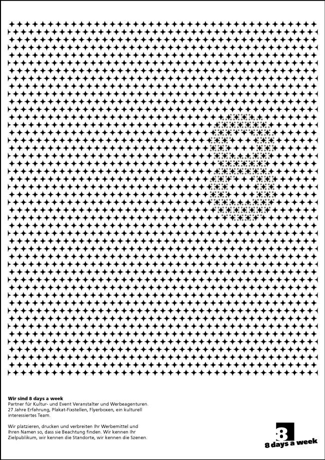 F4-Plakatgestaltung fuer 8daysaweek.